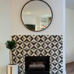 Serengeti cement tiles used for a fireplace