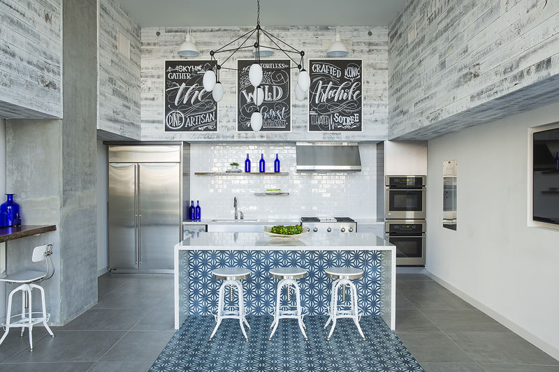 Tunis Cement Tiles used for Kitchen Island