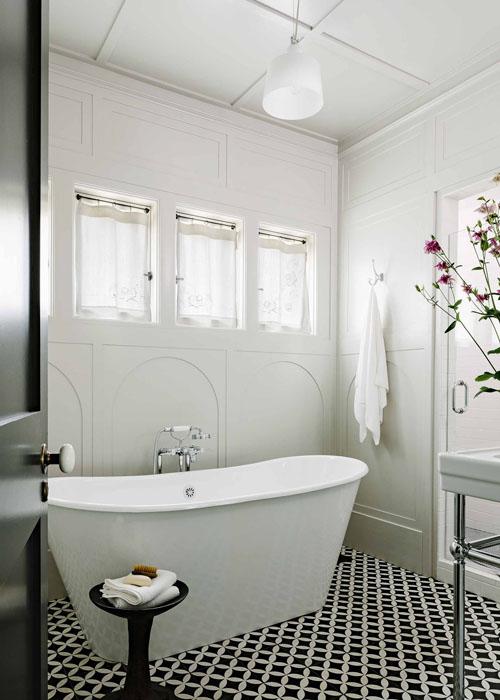 Torino cement tiles for a bathroom design