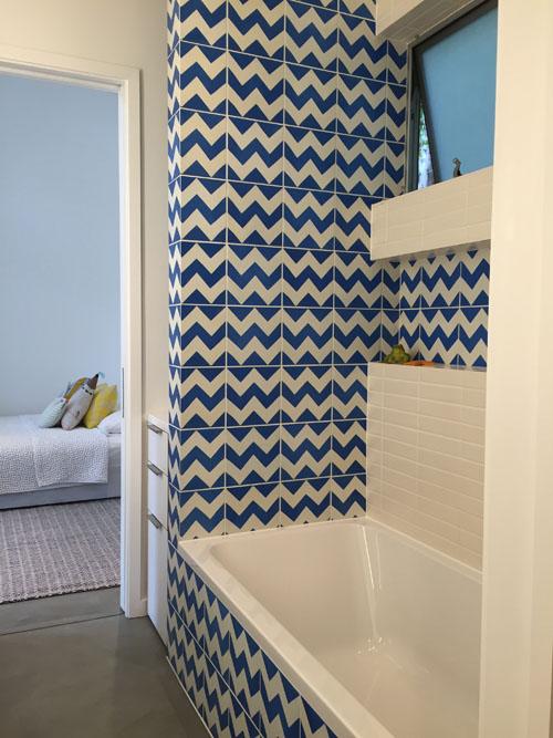 Ardoz cement tiles for a bathroom design