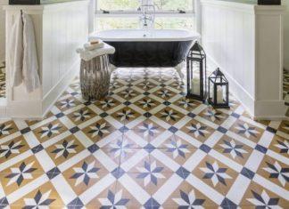 Toscano Cement Tiles Ground A Beautiful Bathroom