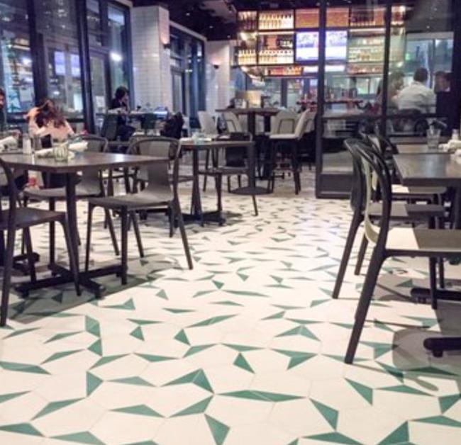 Get The Look A Hexagon Cement Tile Floor Granada Tile Cement Tile