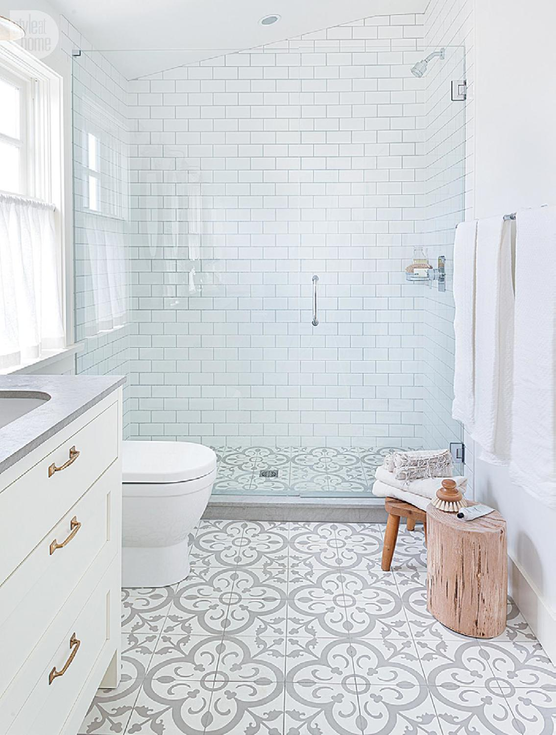 Granada Tile\'s Normandy Cement Tiles Calm As Bathroom Floor Tile ...
