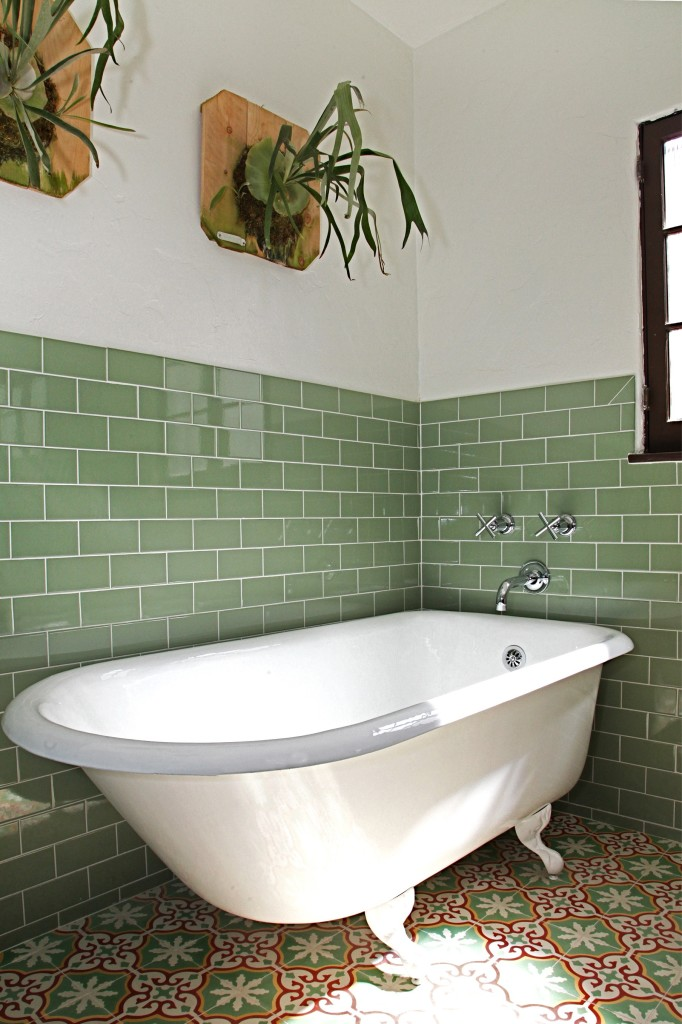 How to Tile a Bathroom Wall - Granada Tile Cement Tile Blog | Tile ...