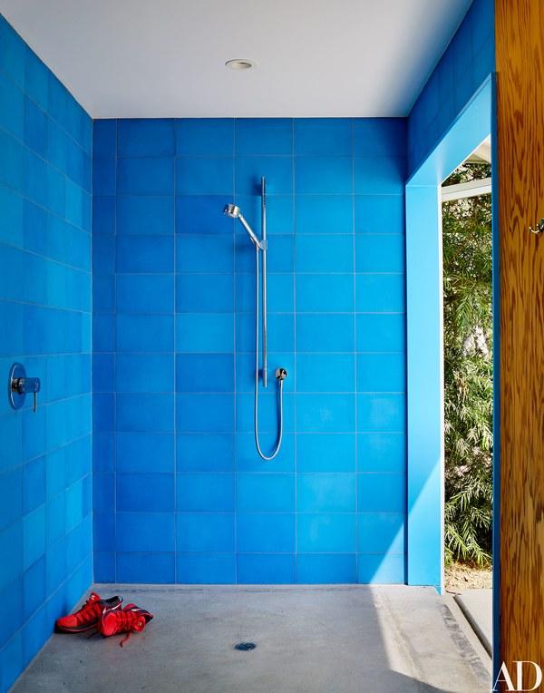 Plain Blue Tiles. Colorful Plain Blue Tiles