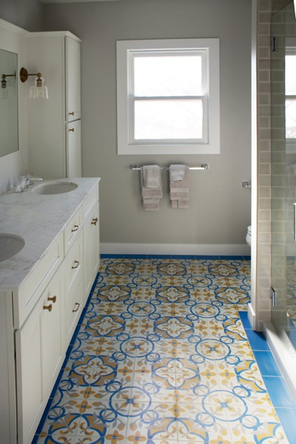 Cement Tile Is One Of The Most Practical Materials For Bathrooms And Showers.  It Is Also One Of The Most Stunning And Diverse When It Comes To Design ...