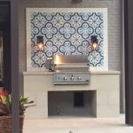 Granada Tile's Cluny cement tiles add beauty to an outdoor grill