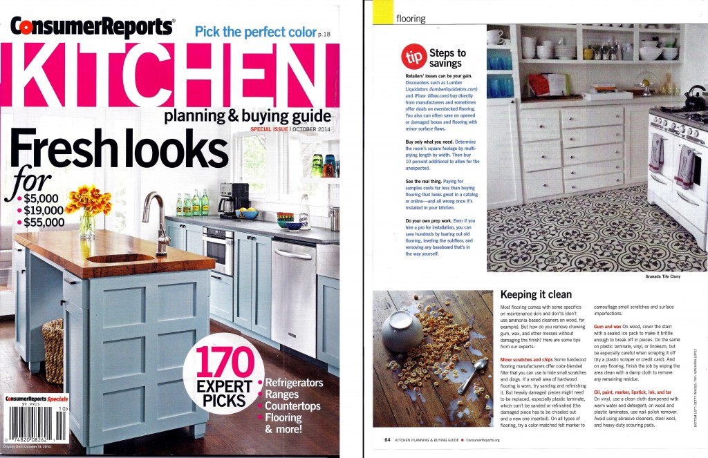 In The News: Our Cluny cement tiles in Consumer Reports ...