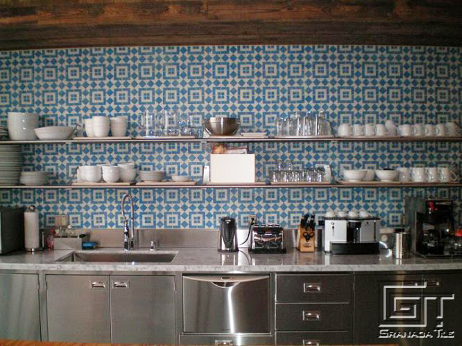 5 reasons to choose cement tile for your kitchen for Cement tile backsplash