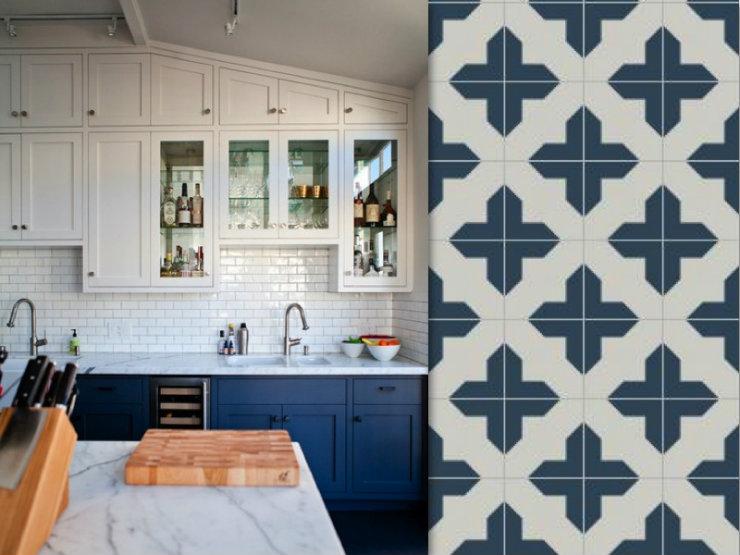 Granada Tile Badajoz Cement Tile Provides Kitchen Tile Inspiration