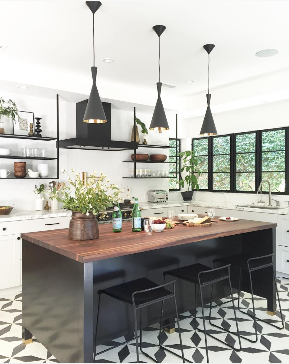 3 Kitchens With Granada Tile Company Cement Tile Kitchen Floors In Black And White Granada Tile Cement Tile Blog Tile Ideas Tips And More