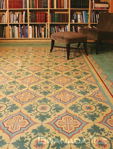 How To Create A Cement Tile Rug Design Granada Tile Cement Tile - Affordable encaustic tiles