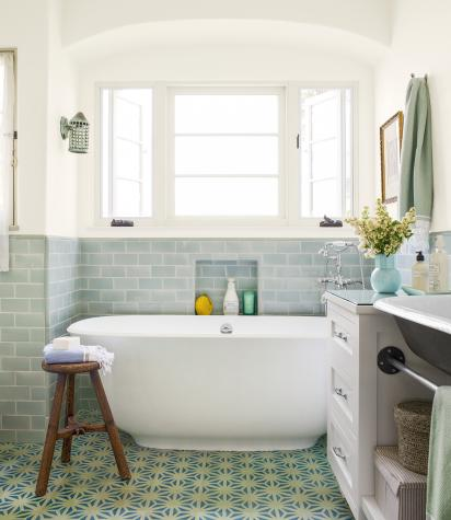 ... A Beautiful Bathroom. This One, Created By Design Vidal During A Full  Home Renovation Using Our Tunis Cement Tiles And Featured On The Cover Of  THIS OLD ...