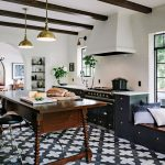 Badajoz cement tiles ground this stunning Portland kitchen designed by Jessica Helgerson Interior Design