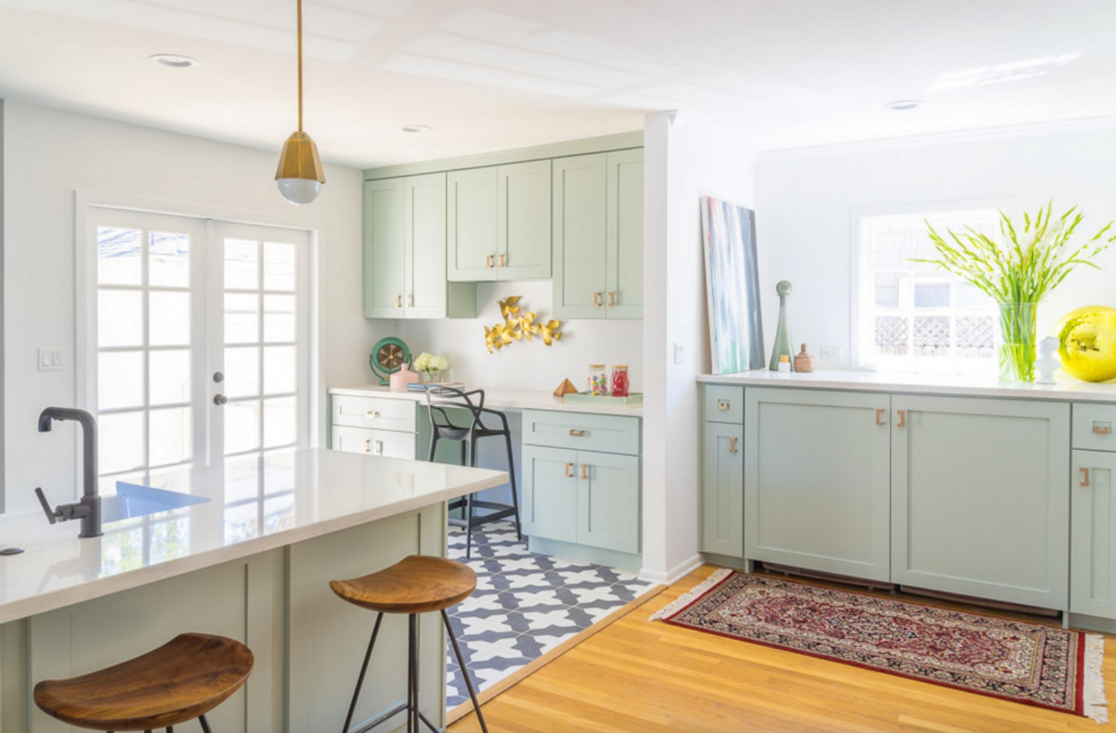Thereu0027s Something About Our Badajoz Cement Tile Used As Kitchen Floor Tile  That Always Makes Us Sit Up And Take Notice. Like This Kitchen From  Apartment ...