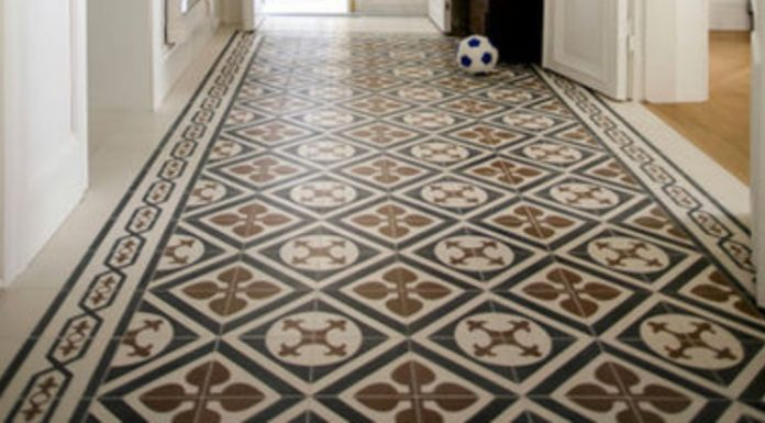 Get The Look: A Cement Tile Rug