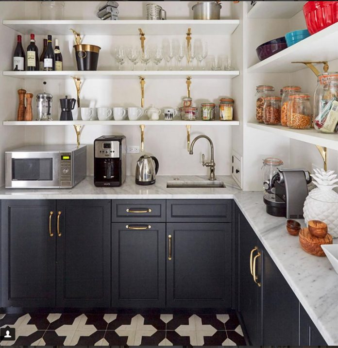 Badajoz Cement Tile Gives Us Pantry Envy In A Kitchen Lab Interiors Design Granada Tile Cement