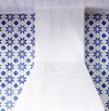 Granada Tile's Calais cement tiles on the cover of House Beautiful