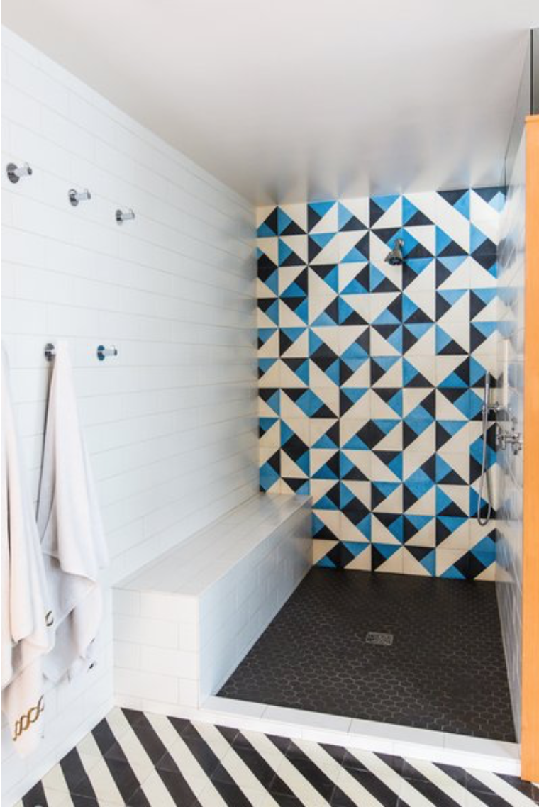 Serengeti And Santander Cement Tiles Are A Mod Pairing In