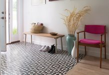 Granada Tile's Fez cement tiles are the welcome mat to a Colorado home.