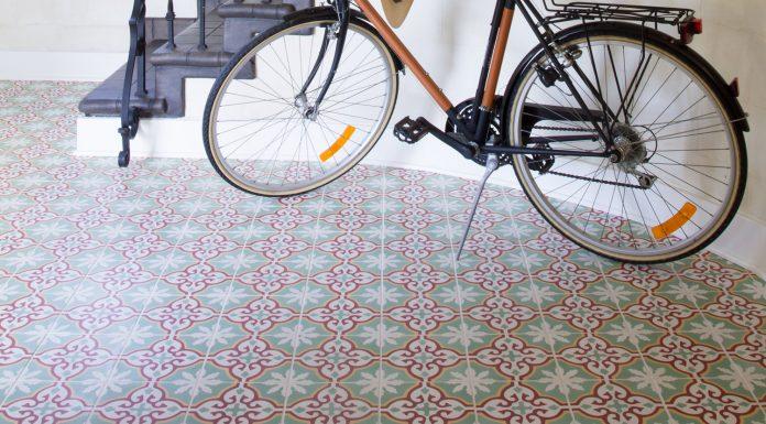 Granada Tiles Sofia cement tiles in the entryway, photo by Marcia Prentice,