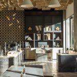 Granada Tile's Stockholm cement tiles at Juniper Table at Kimpton Rowan Palm Springs. Photo: Laure Joliet