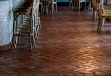 "Granada Tiles Antique 6"" x 12"" tiles at Casolare Ristorante in the Kimpton Glover Park Hotel in Washington DC"