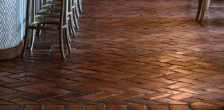 "Granada Tiles Antique 6"" x 12"" tiles at Casolare Ristorante in the Kimpton Glover Park Hotel in Washington DC"