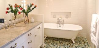 Granada Tile's Cluny cement tiles give actress Heather Graham's home a zen world traveler look