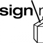 Design Milk logo with milk carton and straw