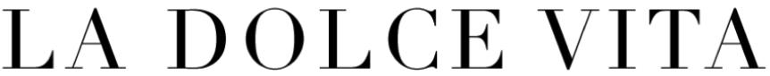 La Dolce Vita design blog logo