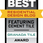 Award for Best Residential Design Blog Featuring Cement Tile