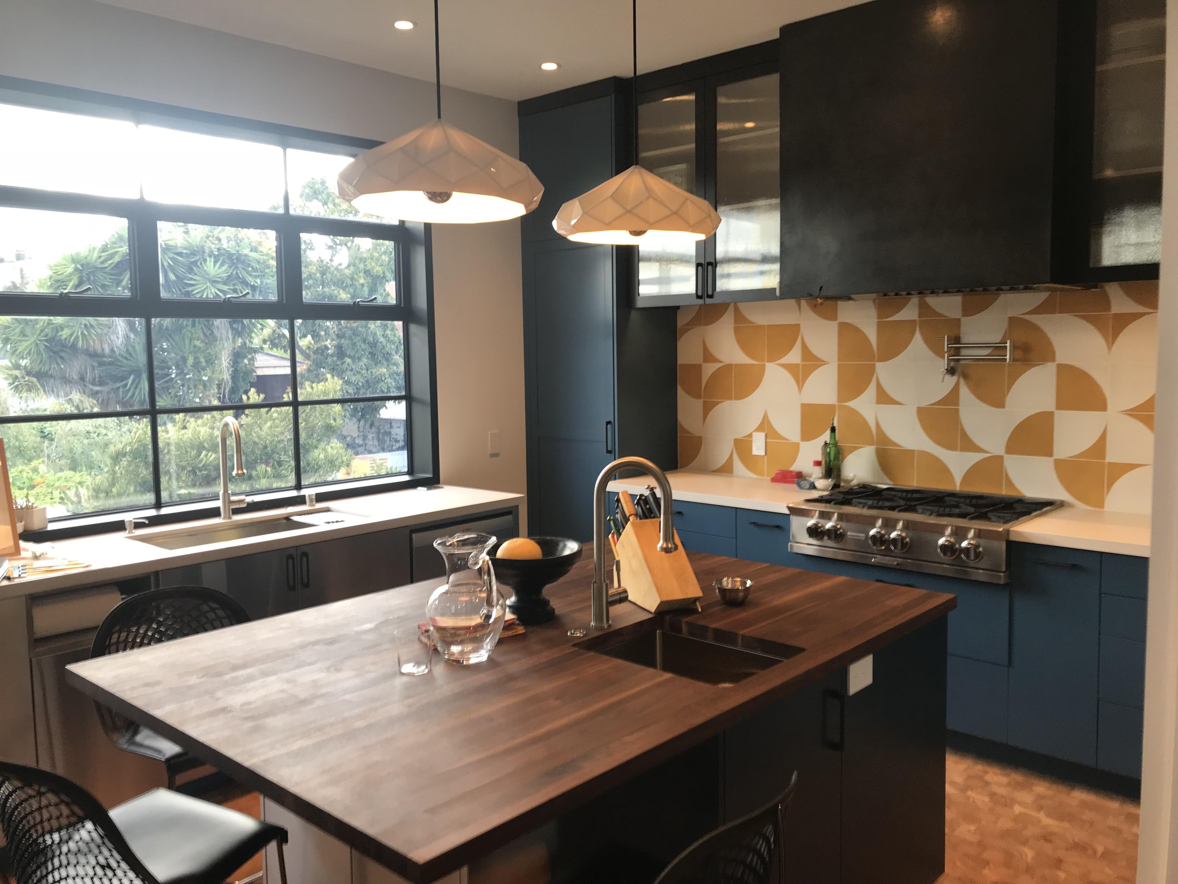 Echo Fortuna Doumani Kitchen backsplash Granada Cement Tile