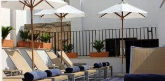 Gio Pointi-style cement tiles at Spain's Hotel Cort
