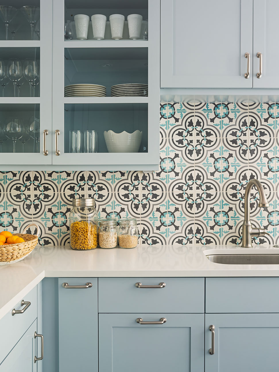 - The Cement Tile Backsplash: How The Look Has Changed Over The