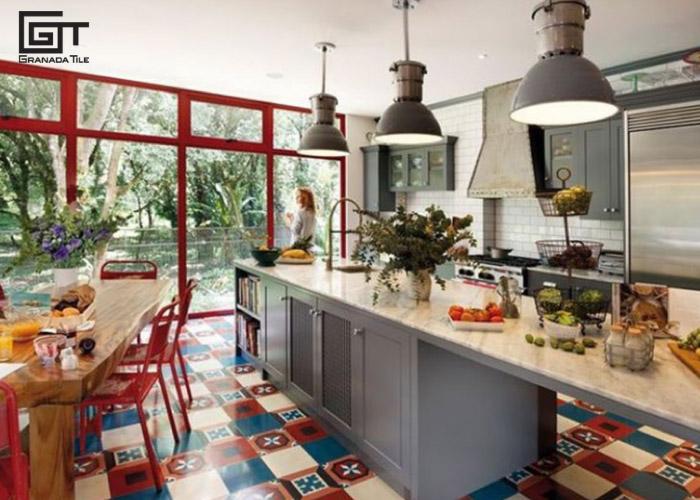 Patchwork-tile-in-kitchen