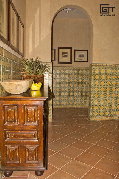 St. Tropez cement tile design for a bathroom