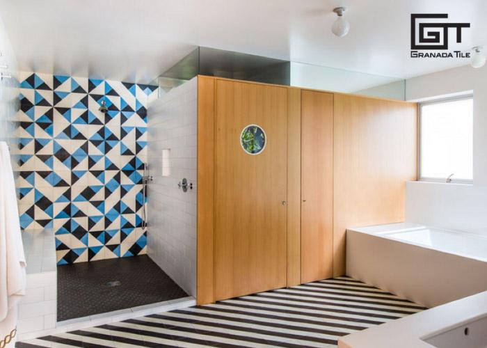 St. Tropez cement tile design for a bathroom