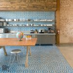 Granada Tile Company's Fez Design in Blue and White in Studio Kitchen and Dining Room