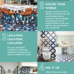 Infographic for choosing custom cement tile patterns by Granada Tile