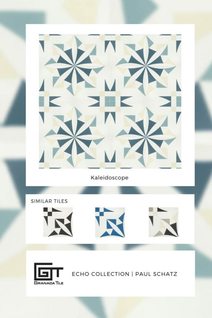kaleidoscope tile designed by paul schatz granada tile designer
