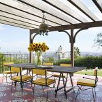 A Hollywood Hills home patio tiles made by Granada Tile