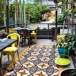 Bestia Restaurant outdoor area with La Rochelle tiles