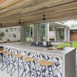 Kitchen with a patchwork design