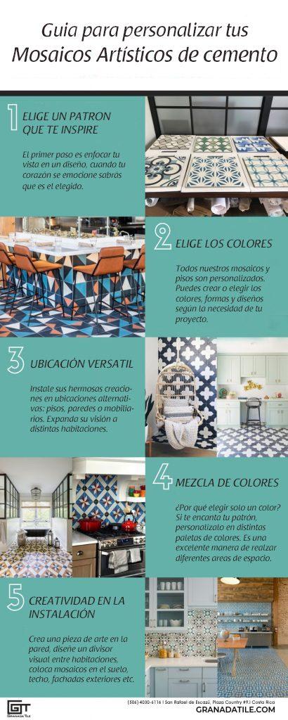 ¿Como personalizar baldosas hidráulicas, diseñar tu piso mosaico de cemento y hacer tus azulejos decorados?