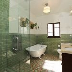 ModOp Design features Granada Cement Tile's Sofia in LA Bathroom