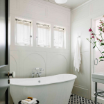 Designer Jessica Helgerson created a breathtaking bathroom featuring our Torino tile adding an elegant