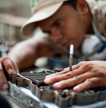 Handcrafted-encaustic-cement-tile-being-created-by-our-highly-skilled-artisans