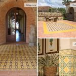 Overlooking the Pacific Ocean Rancho Santana uses many of our beautiful cement tiles to add some Spanish inspired flare to their resort.