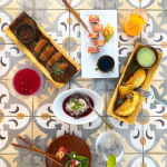 Balance small plates with big patterns for a beautiful Instagram photo